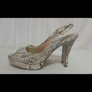 Shoes - Snake skin leather strappy